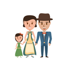 Retro family cartoon vector