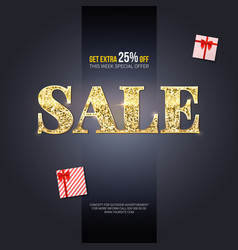 sale ad for luxury exclusive events horizontal vector image