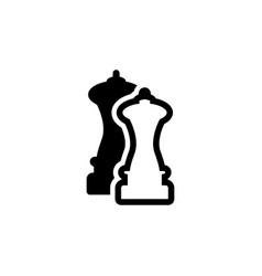 salt and pepper maid flat icon vector image