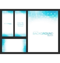 set isolated blurred backgrounds vector image
