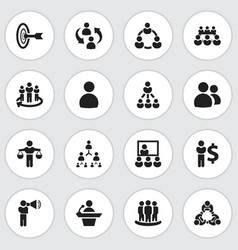 Set of 16 editable cooperation icons includes vector