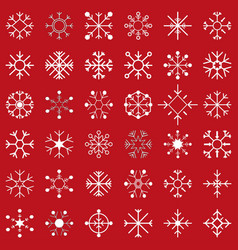 Set of snow flakes vector