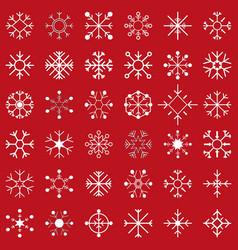 Set snow flakes vector