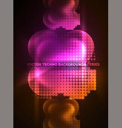 shiny neon glowing circles dot particles vector image