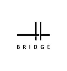 simple bridge logo design inspiration vector image