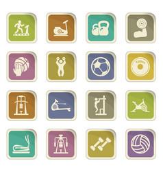 Sport equipment icons set vector