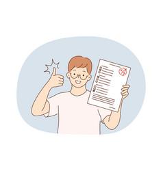 Success in studying excellent school pupils vector
