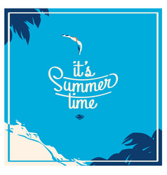 summer holiday and summer camp poster vector image