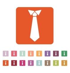 The tie icon Necktie and neckcloth symbol Flat vector image
