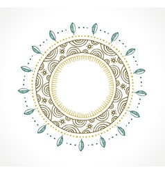 Tribal Bohemian Mandala background with round vector image