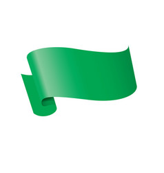 Waving the green flag on a white background vector