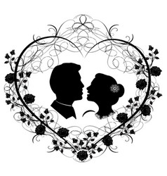 Wedding silhouette 12 vector
