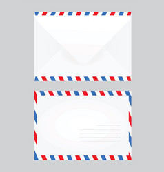 white closed post letter vector image