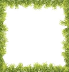 Christmas Fir Tree Border vector image vector image