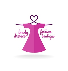 Fashion boutique dress with heart shaped shoulder vector image vector image