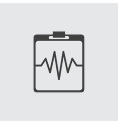 Heartbeat cardiogram icon vector image