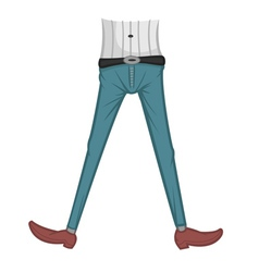 jeans tight vector image vector image
