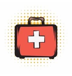 Medicine chest comics icon vector image