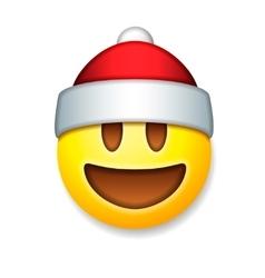 Santa Claus Emoticon laughing holiday emoji vector image vector image