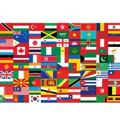seamless flags background vector image vector image
