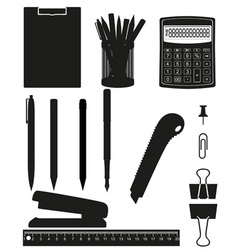 stationery set 03 vector image vector image