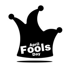 april fools day black jester hat background vector image