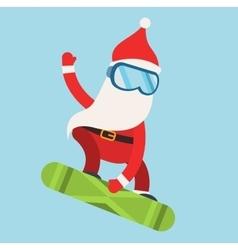 Cartoon extreme Santa snowboarder winter sport vector image vector image