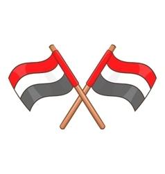 Egypt flags icon cartoon style vector image