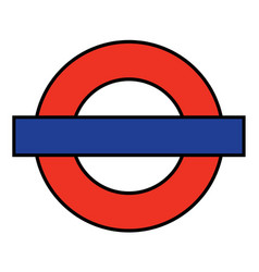 london underground blank vector image