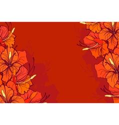 orange lilies vector image vector image