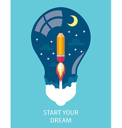 START YOUR DREAM vector image vector image