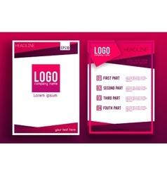 Brochure Flyer design Layout template 005 vector image vector image
