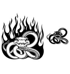 Danger rattlesnake vector image