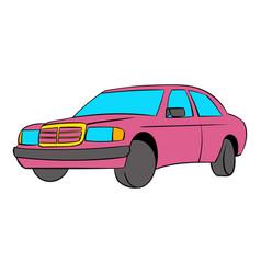 german car icon cartoon vector image
