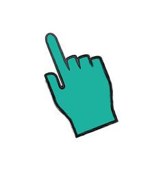 hand click cursor vector image vector image
