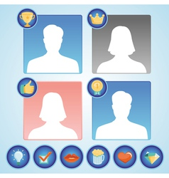 set with achievement and awards badges for social vector image vector image