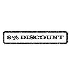 9 percent discount watermark stamp vector image