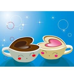 cappuccino coffee vector image vector image
