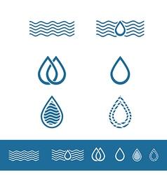 Drop Minimalistic Logo Design Collection vector image vector image