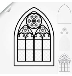 Gothic window vector image vector image