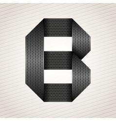 Letter metal ribbon - B vector image