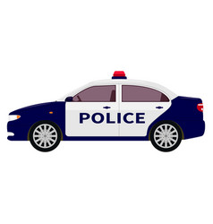 a cartoon police car vector image