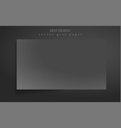 Abstract background with dark gray paper layers vector