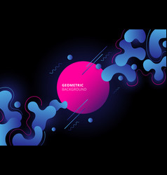 abstract blue and pink color geometric with fluid vector image