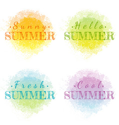 Abstract watercolor summer grunge set isolated on vector