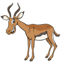 African impala cartoon animal character vector