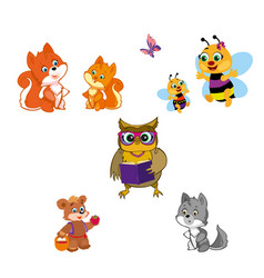Animals isolated on white vector