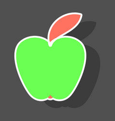Apple icon in trendy sticker style isolated vector