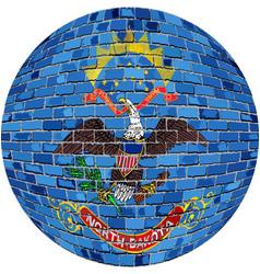 Ball with north dakota flag vector