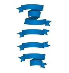 Beautiful Blue Ribbon Label vector